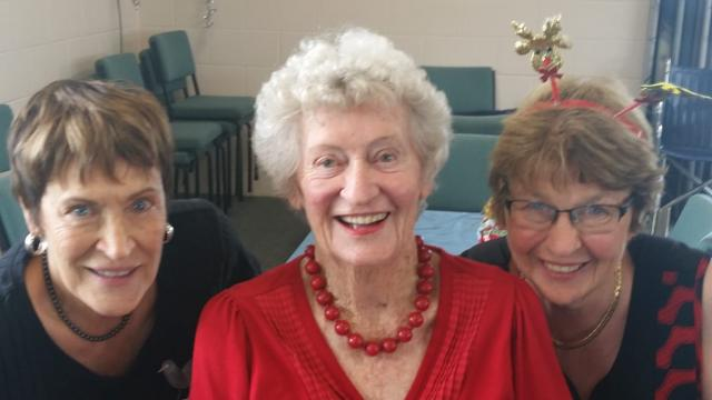 Lucille with Dianne and Lynn